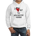 Toy Manchester Terrier Hooded Sweatshirt