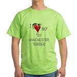 Toy Manchester Terrier Green T-Shirt