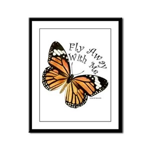 Monarch Butterfly Framed Panel Print