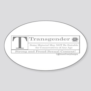 The T Contents Oval Sticker