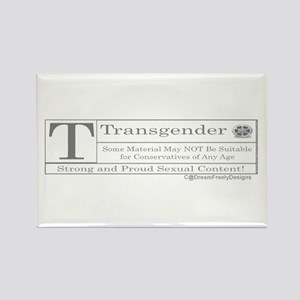 The T Contents Rectangle Magnet