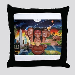 """TAINO PAST AND PRESENT"" Throw Pillow"