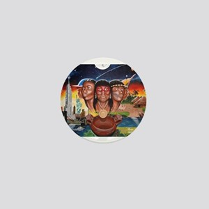 """TAINO PAST AND PRESENT"" Mini Button"