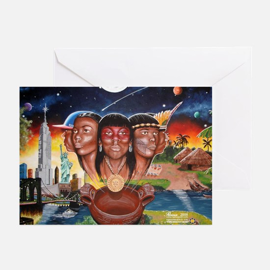 """""""TAINO PAST AND PRESENT"""" Greeting Cards"""