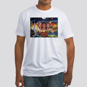 """""""TAINO PAST AND PRESENT"""" Fitted T-Shirt"""