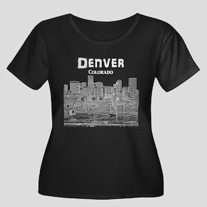 Denver Women's Plus Size Scoop Neck Dark T-Shirt