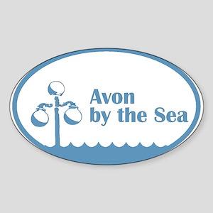 Avon by the Sea Oval Sticker