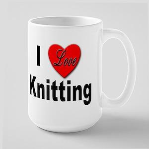 I Love Knitting Large Mug