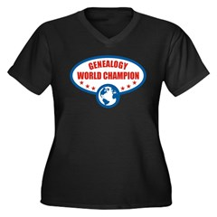 Genealogy World Champion Women's Plus Size V-Neck