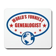 Worlds Funniest Genealogist Mousepad