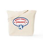 Worlds Funniest Genealogist Tote Bag