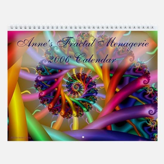 Anne's Fractal Menagerie 2006 Wall Calendar