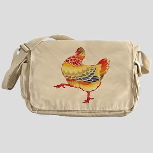 Vintage Chicken Messenger Bag