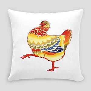 Vintage Chicken Everyday Pillow