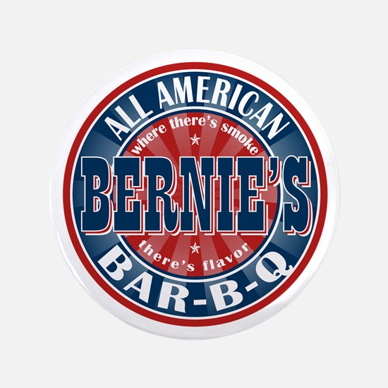 "Bernie's All American BBQ 3.5"" Button"