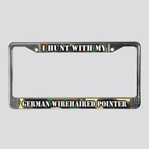 Hunting German Wirehair License Plate Frame