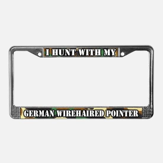 Hunting German Wirehair License Plate Frame