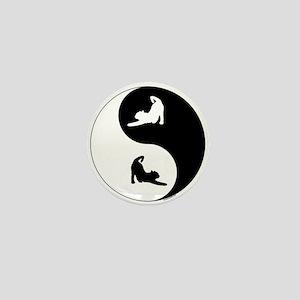 Yin Yang Cat Mini Button