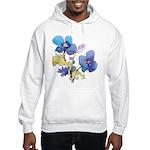 Watercolor Flowers Hooded Sweatshirt
