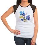Watercolor Flowers Women's Cap Sleeve T-Shirt