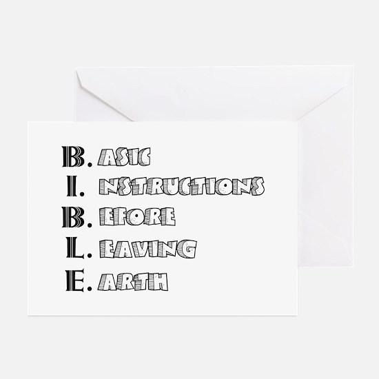 LG - B.I.B.L.E. Greeting Cards (Pk of 20)