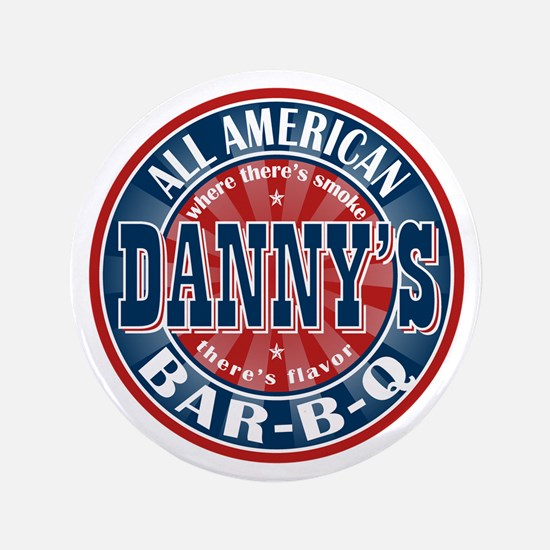 "Danny's All American BBQ 3.5"" Button"