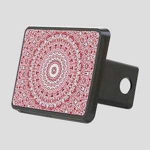 Crimson Red Mandala Patter Rectangular Hitch Cover