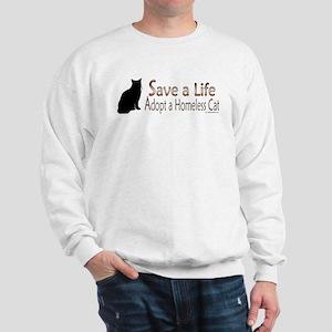 Adopt Homeless Cat Sweatshirt