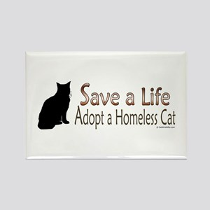 Adopt Homeless Cat Rectangle Magnet