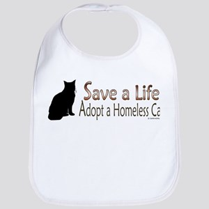 Adopt Homeless Cat Bib