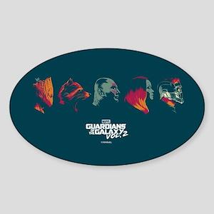 GOTG Profiles Sticker (Oval)