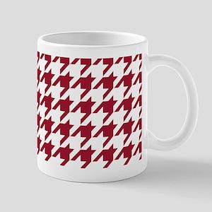 Crimson Red Houndstooth Pattern Mug