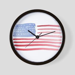 USA Patriotic Flag Wall Clock