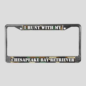 Hunting Chesapeake Bay Retrvr License Plate Frame