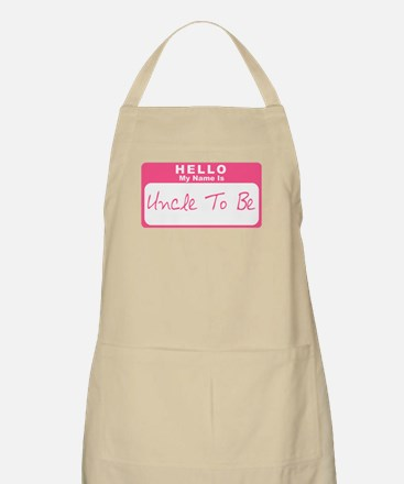 My Name Is Uncle To Be (Pink) BBQ Apron