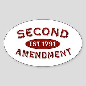 Second Amendment 1791 Oval Sticker