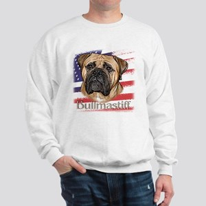 Bullmastiff - flag Sweatshirt