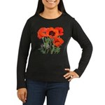 Red Poppies Women's Long Sleeve Dark T-Shirt