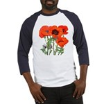 Red Poppies Baseball Jersey