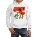 Red Poppies Hooded Sweatshirt