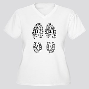 13.1 HALF MARATHON FOOTPRINTS Plus Size T-Shirt