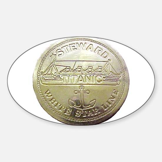 RMS Titanic Steward Oval Decal