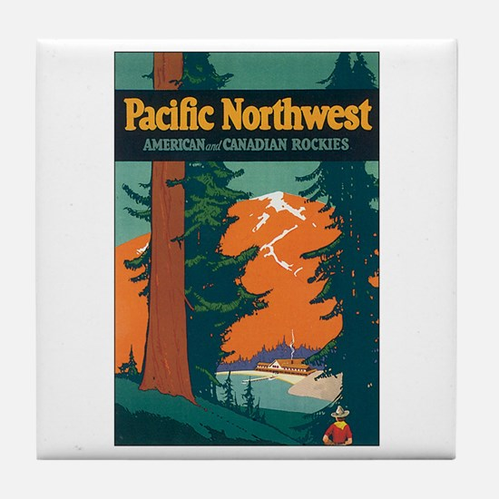 Pacific Northwest Tile Coaster