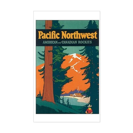 Pacific Northwest Rectangle Sticker