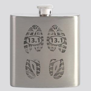 13.1 HALF MARATHON FOOTPRINTS Flask