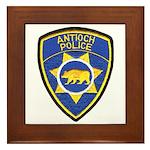 Antioch Police Department Framed Tile