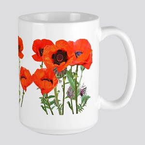 Red Poppies Large Mug