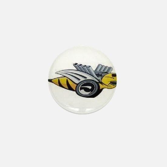 Neon Bee Mini Button