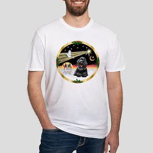 XmasDove/Cocker (black) Fitted T-Shirt