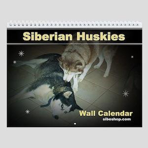 Siberian Huskies Wall Calendar